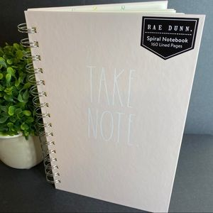 RAE DUNN Take Note Spiral Notebook